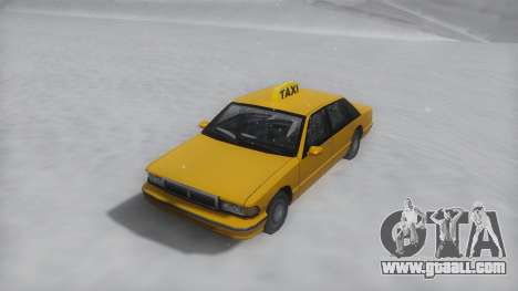 Taxi Winter IVF for GTA San Andreas right view
