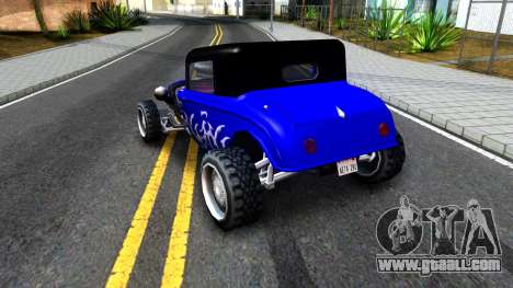 Duke Blue Hotknife Race Car for GTA San Andreas right view