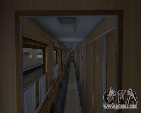 Compartment car Ukrainian Railways for GTA San Andreas bottom view