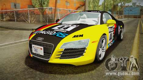 Audi R8 Coupe 4.2 FSI quattro US-Spec v1.0.0 v2 for GTA San Andreas bottom view