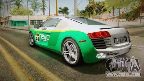 Audi R8 Coupe 4.2 FSI quattro US-Spec v1.0.0 YCH for GTA San Andreas upper view