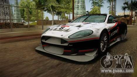 Aston Martin Racing DBR9 2005 v2.0.1 Dirt for GTA San Andreas