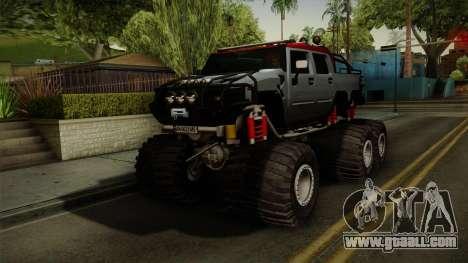 Hummer H2 6x6 Monster for GTA San Andreas