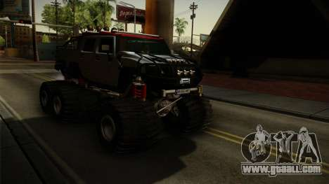 Hummer H2 6x6 Monster for GTA San Andreas right view