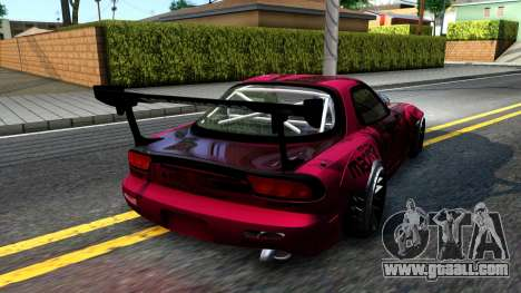 Mazda RX-7 Madbull Rocket Bunny for GTA San Andreas back left view