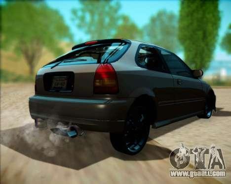 Honda Civic Hatchback for GTA San Andreas right view