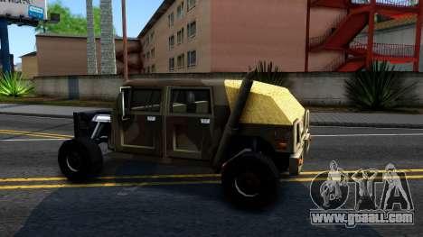 New Patriot GTA V for GTA San Andreas left view