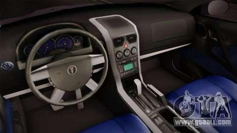 Pontiac GTO Hot Wheels NASCAR PJ for GTA San Andreas inner view