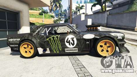 GTA 5 Ford Mustang 1965 Hoonicorn v1.1 [replace] left side view