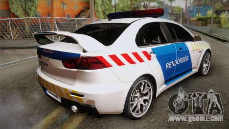 Mitsubishi Lancer Evo X Police for GTA San Andreas left view