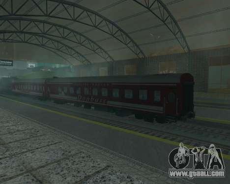 Compartment car Donetsk-Moscow for GTA San Andreas left view