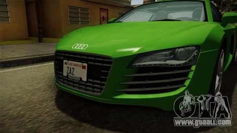 Audi R8 Coupe 4.2 FSI quattro EU-Spec 2008 for GTA San Andreas side view