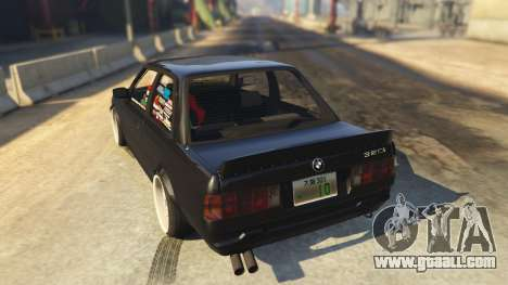 GTA 5 BMW E30 Drift rear left side view