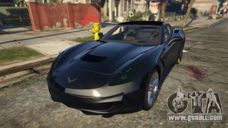 GTA 5 Drag Chevrolet Corvette C7 back view