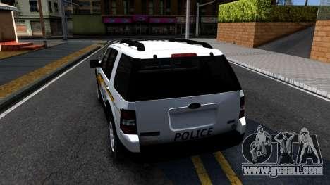 Ford Explorer Slicktop Metro Police 2010 for GTA San Andreas back left view