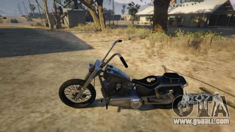 GTA 5 Daemon SOA Harley-Davidson rear right side view