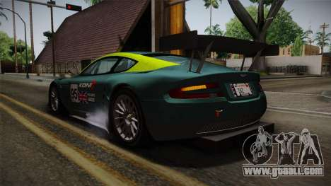 Aston Martin Racing DBRS9 GT3 2006 v1.0.6 YCH v2 for GTA San Andreas wheels