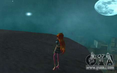 Bloom Rock Outfit from Winx Club Rockstar for GTA San Andreas third screenshot