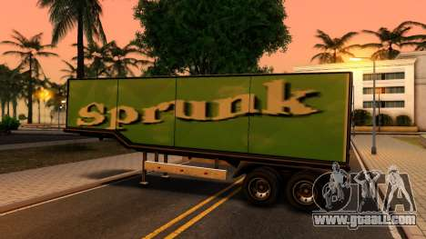 Box Trailer V2 for GTA San Andreas right view