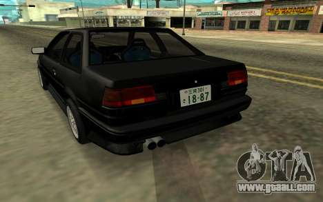 Toyota Corolla Levin (AE86) for GTA San Andreas back left view