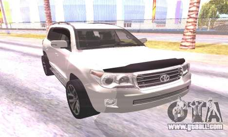 Toyota Land Cruiser 200 for GTA San Andreas left view
