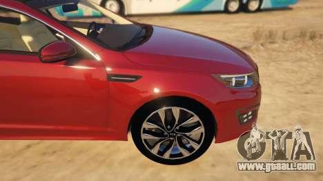 GTA 5 KIA Optima 2014 right side view