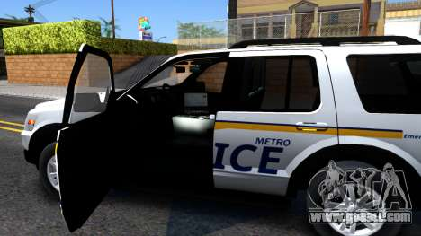Ford Explorer Slicktop Metro Police 2010 for GTA San Andreas inner view