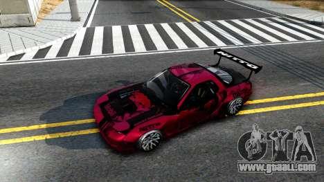 Mazda RX-7 Madbull Rocket Bunny for GTA San Andreas back view