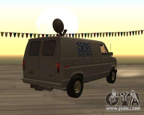 Ford E150 News Van for GTA San Andreas back left view