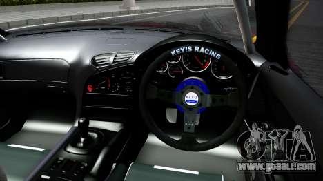 Mazda RX-7 Madbull Rocket Bunny for GTA San Andreas inner view