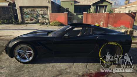 GTA 5 Drag Chevrolet Corvette C7 left side view