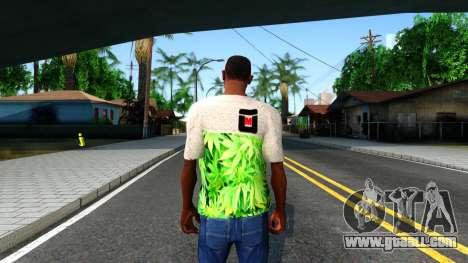 Design Weedleaves T-Shirt for GTA San Andreas third screenshot