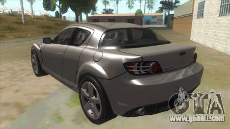 NFS PRO STREET: Mazda RX-8 Tunable for GTA San Andreas back left view