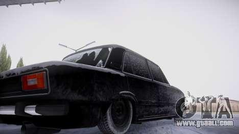 VAZ 2106 winter version for GTA San Andreas inner view