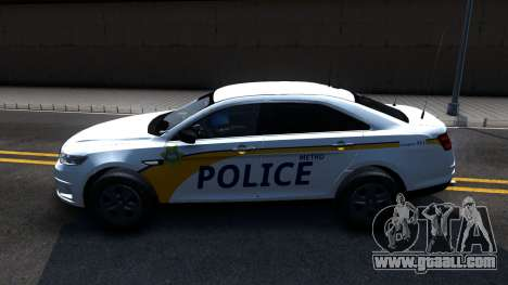 Ford Taurus Slicktop Metro Police 2013 for GTA San Andreas left view