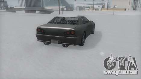 Elegy Winter IVF for GTA San Andreas back left view