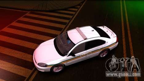 2008 Chevrolet Impala LTZ County Sheriff for GTA San Andreas left view