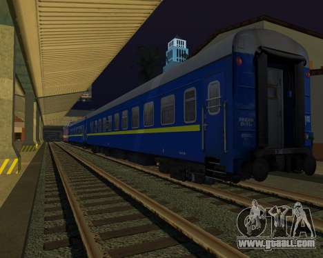 Compartment car Ukrainian Railways for GTA San Andreas right view