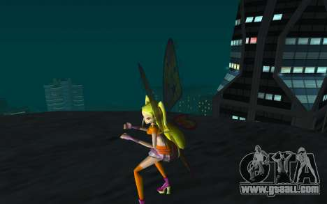 Stella Believix from Winx Club Rockstars for GTA San Andreas third screenshot