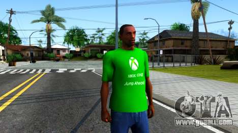 T-Shirt Xbox1 for GTA San Andreas second screenshot