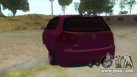 Volkswagen Golf MK for GTA San Andreas back left view