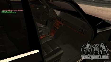 Mercedes-Benz W124 E500 Armenian for GTA San Andreas upper view