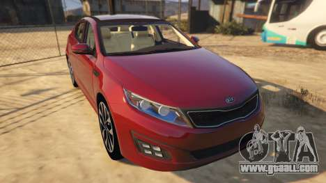 GTA 5 KIA Optima 2014 back view