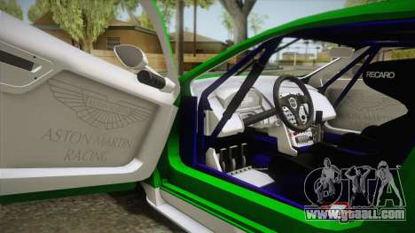 Aston Martin Racing DBR9 2005 v2.0.1 YCH Dirt for GTA San Andreas inner view