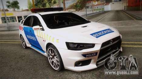 Mitsubishi Lancer Evo X Police for GTA San Andreas