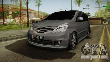 Nissan Grand Livina Highway Star for GTA San Andreas