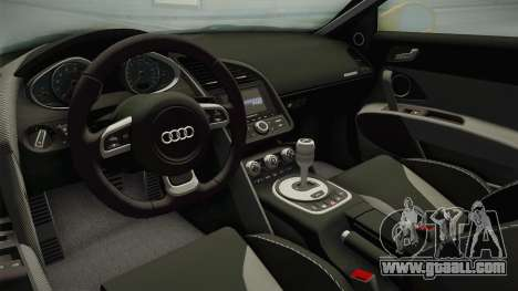 Audi R8 Coupe 4.2 FSI quattro US-Spec v1.0.0 for GTA San Andreas inner view