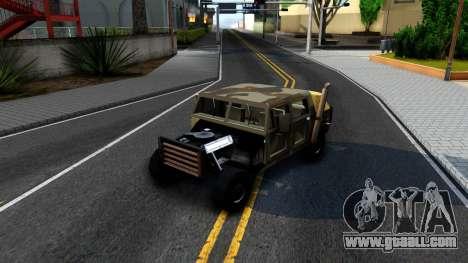 New Patriot GTA V for GTA San Andreas inner view