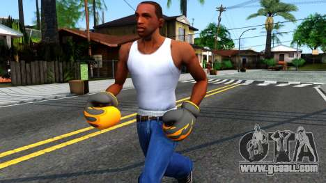 Black With Flames Boxing Gloves Team Fortress 2 for GTA San Andreas