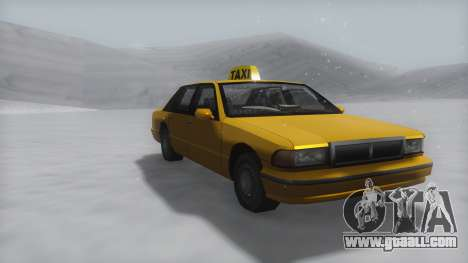 Taxi Winter IVF for GTA San Andreas